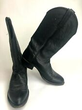 Lucchese Cowboy Boots Mens 8 D Western Black Leather