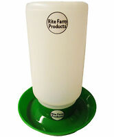 GREEN RITE FARM PRODUCTS WATERER BASE & POLY QUART JAR POULTRY CHICKEN CHICK