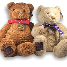 "2 Large RARE 2002 Gund Wish Bears 26"" 100th Anniversary Star Tag Leatherette"