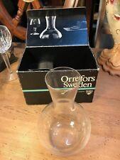 Nice Retro Vintage Swedish Orrefors Crystal Decanter in Original Box