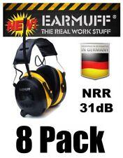 (8) 31 Decibels WIRELESS YELLOW HEADPHONES Hearing Protector Defender Earphones