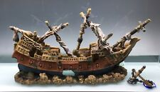 XXL Large Shipwreck - Aquarium Ornament - Fish Tank - Galleon - WITH ANCHOR