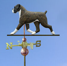 Boxer Uncropped Hand Carved Hand Painted Basswood Dog Weathervane Brindle