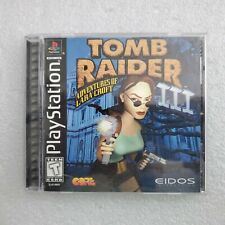 Tomb Raider Iii 3 Playstation 1 Ps1 Complete Cib Authentic