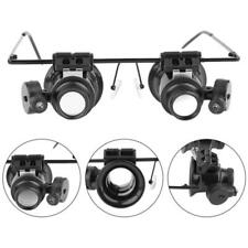 20PCS LED Light Magnifying Eye Glasses Magnifier Loupe Lens Jeweler Watch Repair