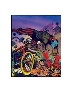 The Destroyer...Hell Rider! Timely/ Marvel Comics Golden Age style sericel
