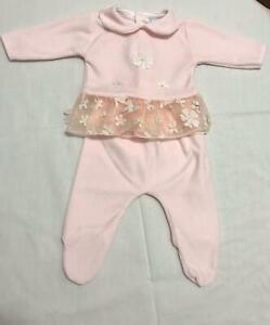 Vestitino con ghettina rosa made in italy Nuovo taglia unica 0/1 mese