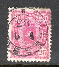 Finland - 1875 Def. Coat of Arms Mi. 17Byb FU (Perf. 12,5, thinned)  c
