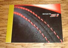 Original 2002 Honda Civic Si Sales Brochure 02