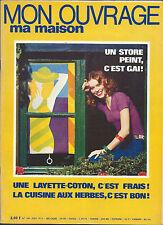 REVUE MON OUVRAGE MA MAISON N°309 JUIN 1974 LAYETTE POUPEE COUTURE STORES