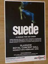 Suede - Glasgow feb.2016 live music show memorabilia tour concert gig poster