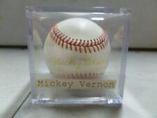 Micky Vernon Signed Baseball