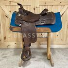 """15"""" Vintage Circle Y Cow Country All Around Saddle"""