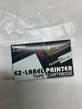 New CASIO IR-9X1 Tape cartidge clear tape/Black INK Ez-lable Printer 9mm IR-9X1