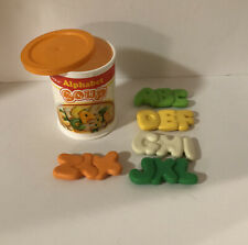 New ListingFisher Price Fun With Food Alphabet Soup With Container 1987 Play Food Vintage