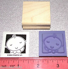 Stampin Up Baby Face Stamp Single Occasionally with a Solid Background New