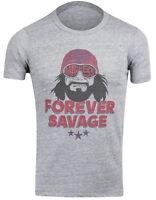 WWE WWF Macho Man Randy Savage Forever Wrestling T-Shirt (Heather Gray)