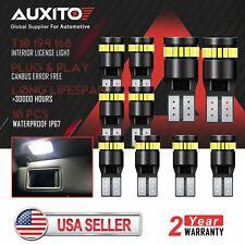 10x AUXITO 194 T10 168 LED Wedge License Plate Light Bulb 6000K Xenon White 2825