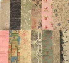 12 pieces PAPER, 6X6, Vintage Inspired, Floral, Script, Ticket, Antique Like