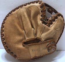 VTG Reach Leather Baseball Brown Glove Catchers Mitt 2453 Made in USA 20th Cen.