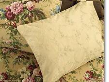 NWT $200 RALPH LAUREN ADRIANA DECO BED PILLOW Champagne w Floral Embroidery