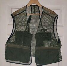 Vintage green mesh Orvis Hunting fly fishing Vest Old Tag talon zipper Rare!