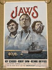 Jaws Hooper Brody Quint Orca Horror Movie Poster Art Print Mondo Mark Summers
