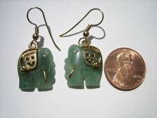 Jade Elephant Earrings