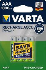 Blisters Of 4 Accumulator/Battery Rechargeable AAA /LR3 1000mAh VARTA