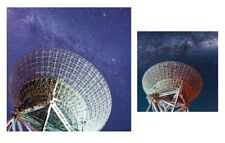Radio Telescope Milky Way Gift Wrap and Greetings Card with White Envelope