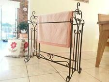 French Style Quilt Blanket Stand Bathroom Towel Rail Rack Scarf Display BRS002 B