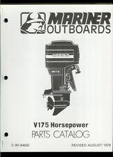 Orig 1979 Mariner V175 HP Outboard Motor/Engine Illustrated Parts List Catalog