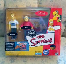 Simpsons KBBL Radio Studio Environment with Marty and Bill Action Figures