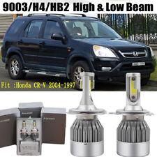 2x H4 Car LED Headlight Kit Bulb For Honda CR-V 2004-1997 Hi/Low Beam
