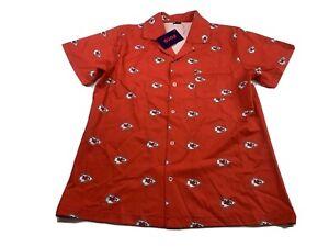 Kansas City Chiefs Pajama Top Nightgown Blouse Women's Small