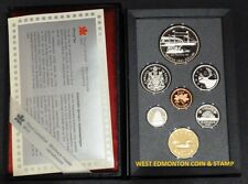 1991 PROOF DOUBLE DOLLAR SET - CANADIAN 7-COIN SET - CASE, BOX & CERTIFICATE