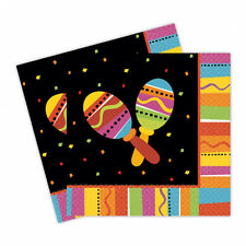 16 Mexican Fiesta Party Napkins Mexican Party Supplies   Fiesta Party Tableware
