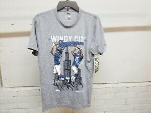 PRO-MERCH MEN'S NFL*WINDY CITY SKYSCRAPERS*(JERRERY/MARSHALL) M GRAY T-SHIRT NWT