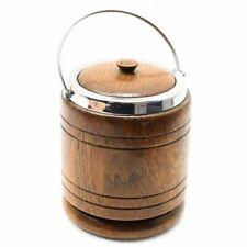 15cm Secchio con coperchio portacandele STORAGE in legno maniglia del cilindro