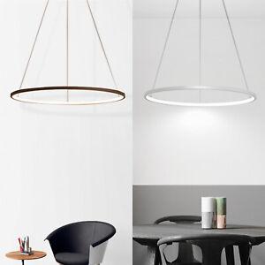 LED Ring Pendel Decken Strahler Leuchte Silber/Kaffeefarbe Schlaf Zimmer Lampe