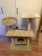Kratzbaum für Katzen halbhoch in beige