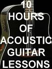 10 Hours of Acoustic Guitar Lesson Videos on 1 Computer Disk. Beginner To Pro!