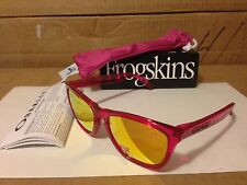 NEW Oakley - POLARIZED Frogskins - Acid Pink / Fire Iridium Polarized, 24-357