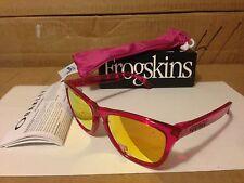 NEW Oakley - POLARIZED Frogskins - Acid Pink / Fire Iridium Polarized, 24-357
