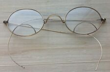 Antique Eye Glasses Gold Wire Rim 2 Part Bifocal Lens Oval Marked A 1/10 12?