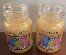 2  NEW Yankee Candle Peeps Marshmallow Chicks  22 oz Large Jar