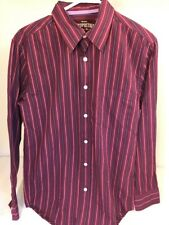 New NWT Mens Aeropostale Sz S Red Striped Shirt Long Sleeve Button Down Slim Fit