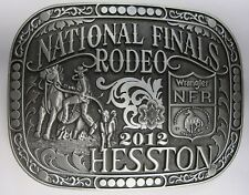 National Finals Rodeo Hesston 2012 NFR Adult Cowboy Buckle New Wrangler AGCO