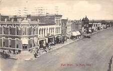 Le Mars Iowa birds eye view Main St business area antique pc Y15442