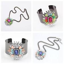 Unbranded Crystal Alloy Statement Costume Bracelets